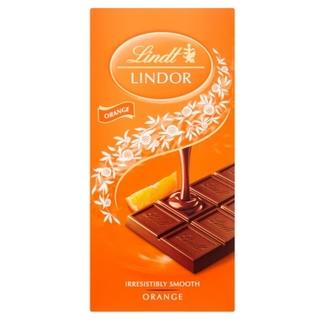 Lindt Lindor Orange Milk Chocolate Bar