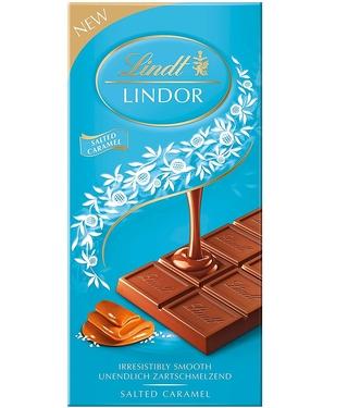 Lindt Lindor Milk Chocolate Salted Caramel Bar