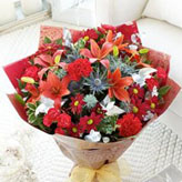 Large Christmas Cracker Hand-tied Bouquet