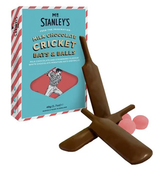 Mr Stanley's Milk Chocolate Cricket Bats & Balls