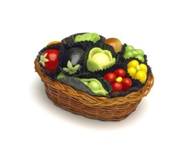 Marzipan Vegetables Basket