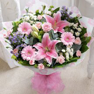 Aqua Pink Scented Hand-tied Bouquet