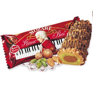 Reber Mozart Piano Chocolate Bar