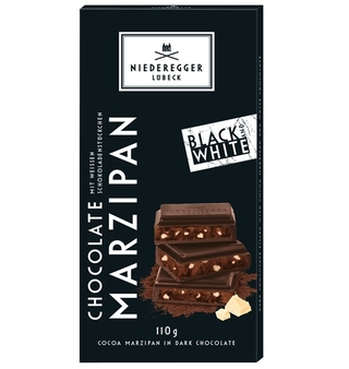 Niederegger Black & White Chocolate Marzipan Bar