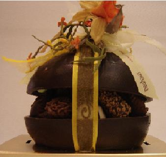 Belgian Neuhaus Large Dark Chocolate Easter Egg