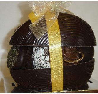 Belgian Chocolate Small Dark Easter Egg