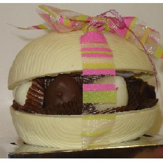 Belgian  White Chocolate Easter Egg