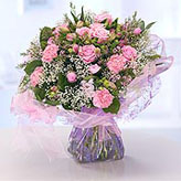 Pretty Pink Hand-tied Flower Arrangement