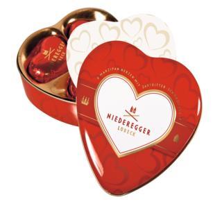 Niederegger Marzipan Hearts in Gift Tin