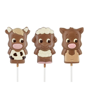 Chocolate Farm Animal Lolly