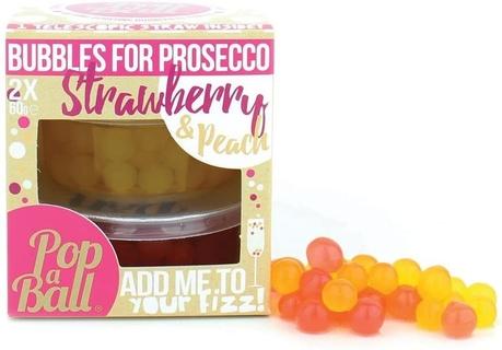 Popaball Bubbles for Prosecco Strawberry & Peach