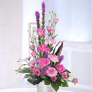 Aqua Pink Floral Arrangement