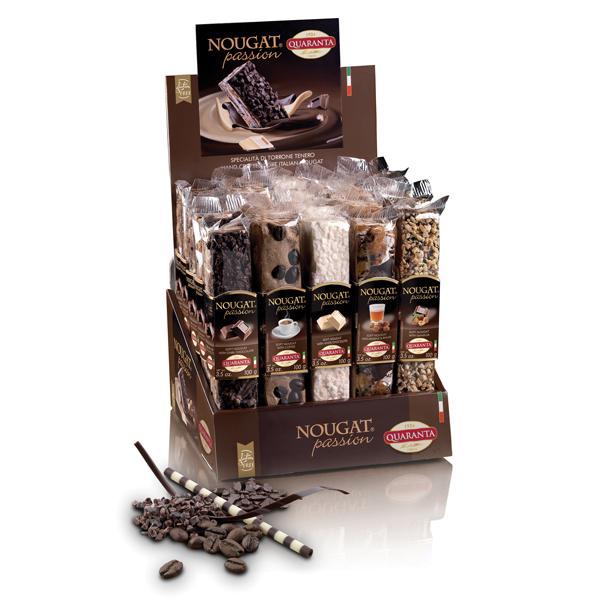 Quaranta Soft Nougat Bar Chocolate Selection