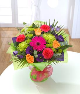 A World of Colour Hand-tied Bouquet
