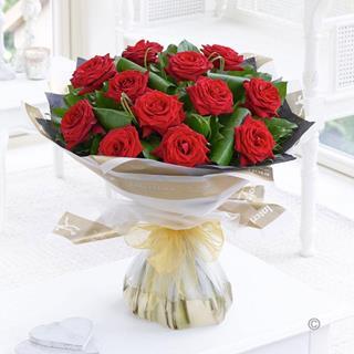 Elegant Red Roses Bouquet