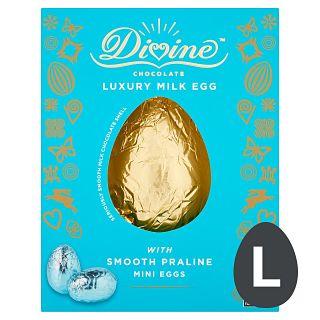 Divine Milk Chocolate Gourmet Popcorn Egg