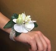 Phalaenopsis Orchid Wrist Diamonte Corsage