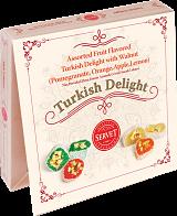 Assorted Servet Fruit Turkish Delights With Walnut