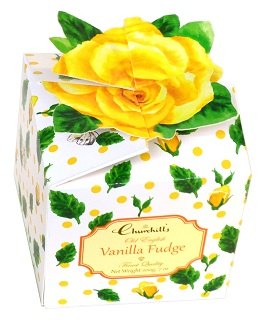 Churchill's Vanilla Fudge in  Yellow Rose Box