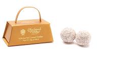 Milk Sea Salt Caramel Truffles in Mock Hand bag