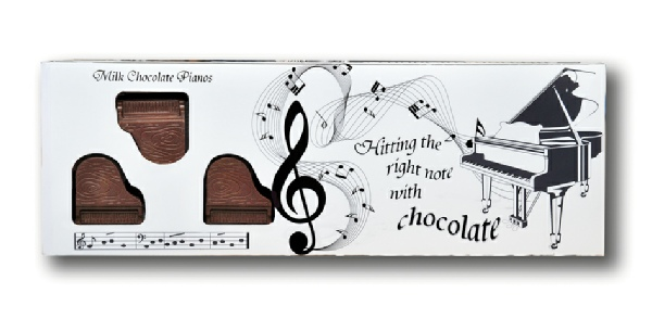 Symphony of Milk Chocolate Pianos