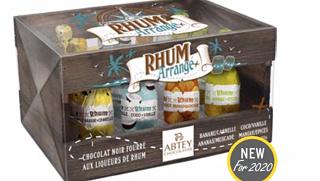 Abtey Rum Liqueur Bottles Crate