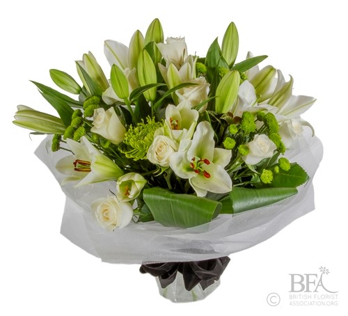 Aqua-Packed Lily Bouquet