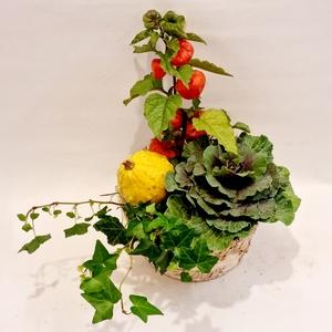 Coral Owl Autumnal Basket