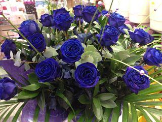 Blue Rose Hand Tied Arrangement
