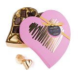 Cachet Belgian Chocolates Pink Heart Gift Box