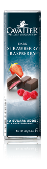 Cavalier Dark Strawberry and Raspberry Chocolate Bar 40g