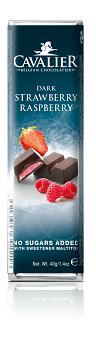 Cavalier Dark Strawberry and Raspberry Chocolate Bar 40g