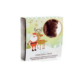 Cocolibre Dairy-Free Chocolate Reindeers & Santas