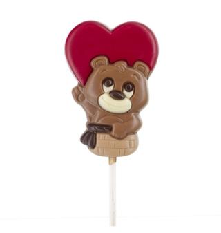 Belfine Love Bear Chocolate Lollipop