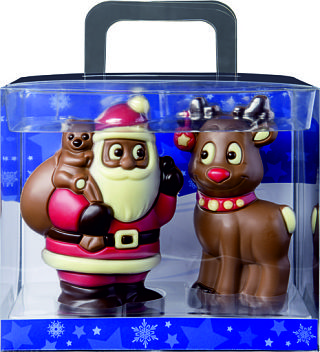Chocolate Santa & Reindeer Gift Box