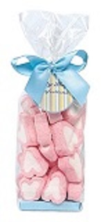 Heart marshmallows in gift bag