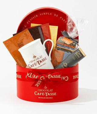 Café Tasse's Chic Chocolate Hat Box Gift