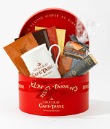 Café Tasse's Chic Chocolate Hat Box Gift