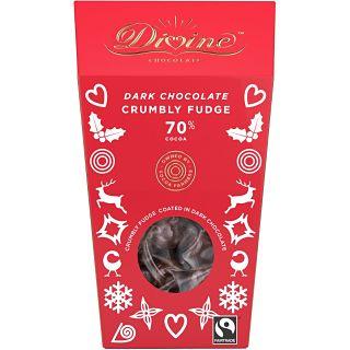 Divine Dark Chocolate Crumbly Fudge 70% Cocoa