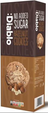 Diablo Hazelnut No Added Sugar Cookies