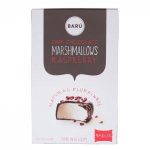 Baru Dark Chocolate Raspberry Covered Marshmallows
