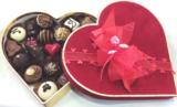 A Velvet Keepsake Heart with Belgian Chocolates