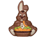 Chocolate Easter Carrot Basket Bunny