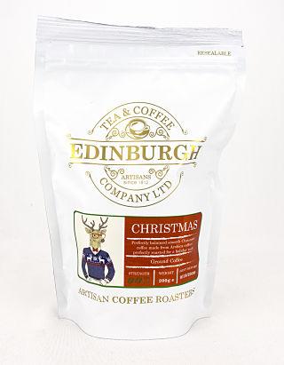 Edinburgh Tea & Coffee Company Christmas Ground Coffee Bag