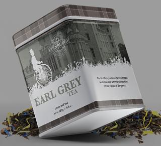 Edinburgh Tea & Coffee Company Early Grey Loose Leaf Tea Caddy