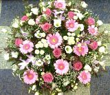Flushed Pink Funeral Posy Arrangement