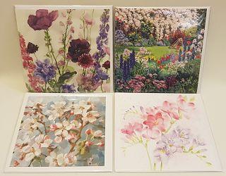 Printed Flowers Greeting Card