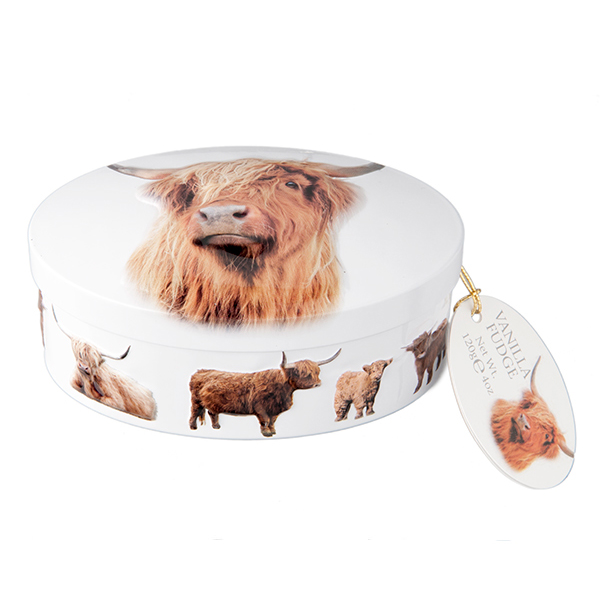 Gardiner's Highland Coo Vanilla Fudge Tin