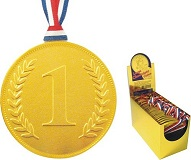 75mm Gold No.1 Medal with Ribbon