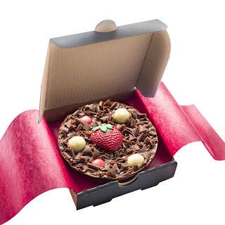 "Strawberry Sensation Mini Chocolate 4"" Pizza"